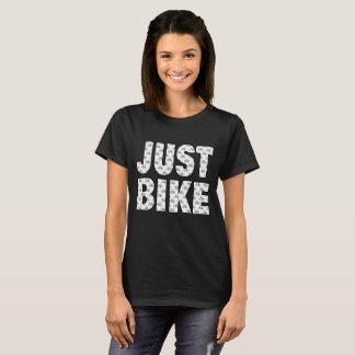 Das Schwarz-gerade Fahrrad der Frauen T-Shirt