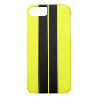 Das schwarze und gelbe Laufen Stripes iPhone 7 iPhone 8/7 Hülle