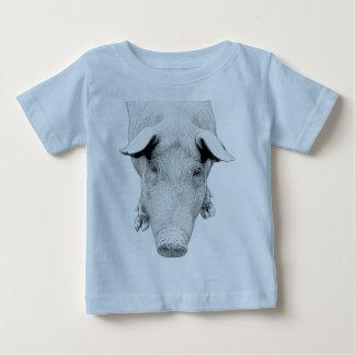 Das Schwein in Schwarzweiss Baby T-shirt