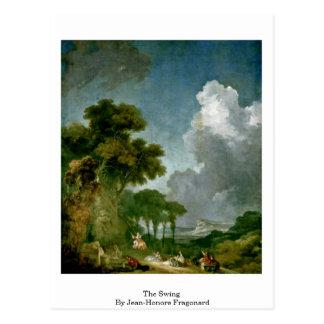 Das Schwingen durch Jean-Honore Fragonard Postkarte