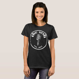 """Das sesh"" der Frauen Wappen-schwarzer T - Shirt"