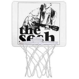 """das sesh"" MiniBasketballkorb (weiß) Mini Basketball Ring"