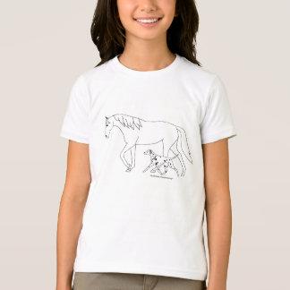 Das Shirt der Dalmatiner-Kinder: Dal u. Pferd