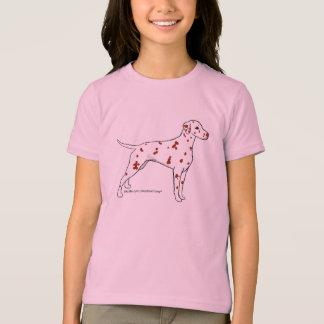 Das Shirt der Dalmatiner-Kinder -- Leber-Gepunktet