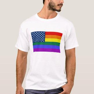 Das Shirt der Regenbogen USA-Flaggenmänner