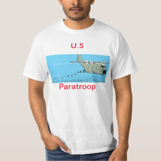 Das Shirt der US-Fallschirmjäger-Cartoon-Männer