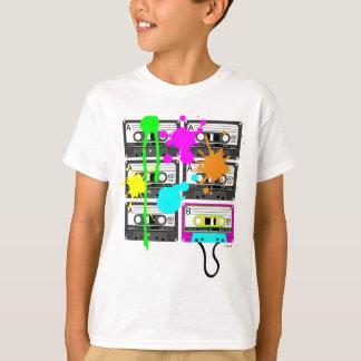 das Shirt des 80er Spalt Mischungs-Band-Mädchens