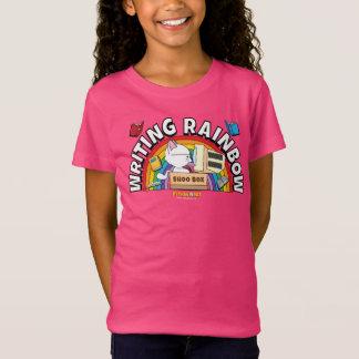 Das Shirt des Schreibens-Regenbogen-Mädchens