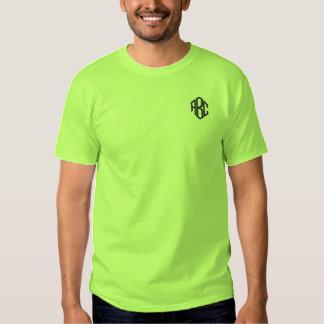 Das Shirt-Limones grünes Monogramm der gestickten