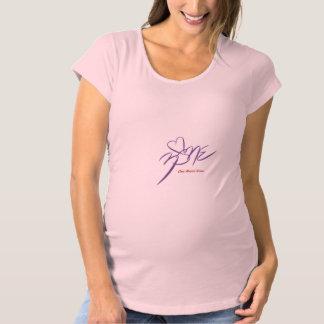 Das Shirt~One der Frauen Mutterschaftsherz-Zone Umstands-T-Shirt