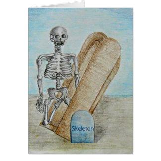 Das Skelett Karte