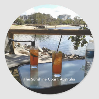 Das Sonnenschein-Küsten-Australien-Foto Runder Aufkleber