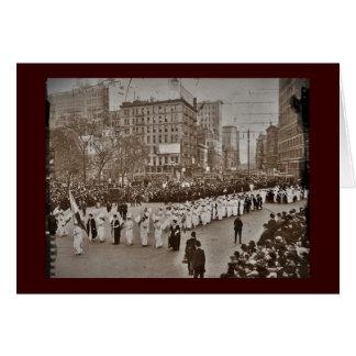 Das Stimmrecht-Parade 1912 der Frauen Grußkarten