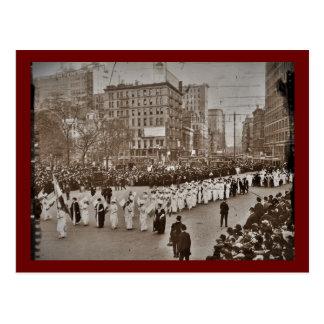 Das Stimmrecht-Parade 1912 der Frauen Postkarten
