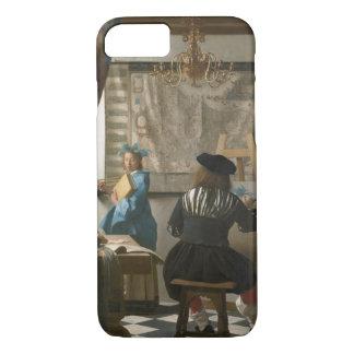 Das Studio des Künstlers, c.1665-66 (Öl auf iPhone 8/7 Hülle