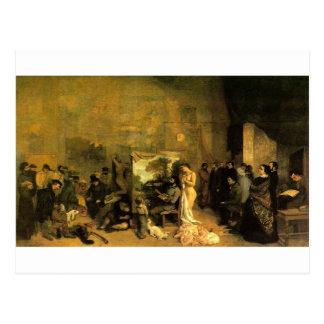 Das Studio des Künstlers durch Gustave Courbet Postkarte