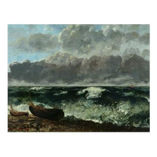 Das stürmische Meer oder, die Welle, 1870 Postkarte