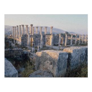 Das SüdDecumanus, Jerash, Jordanien Postkarte