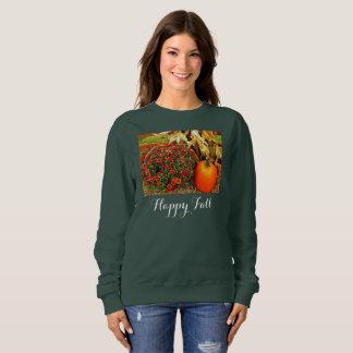 Das Sweatshirt der Fall-Ernte-Frauen, Jäger-Grün Sweatshirt