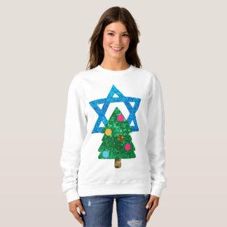 das Sweatshirt Paillette christmukkah