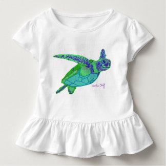 Das T-Shirt des Meeresschildkröte-Mädchens
