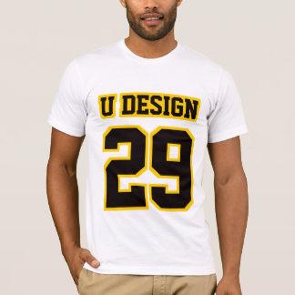 Das T-Stück 2 WEISSES SCHWARZES T-Shirt