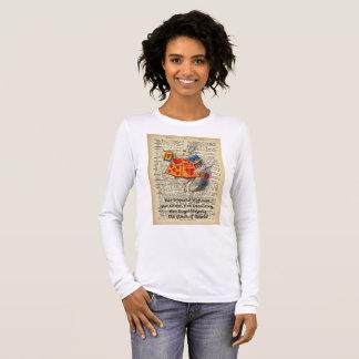 Das T-Stück Alice im Wunderland-Kaninchen-der Langarm T-Shirt