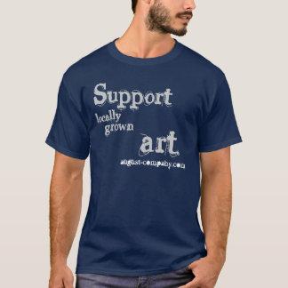 Das T-Stück am Ort gewachsenen Art. Männer der T-Shirt