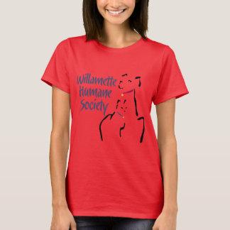 Das T-Stück der Frauen (kein hinteres Abziehbild) T-Shirt