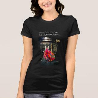Das T-Stück der Regenbogen-Mädchen-Frauen T-Shirt