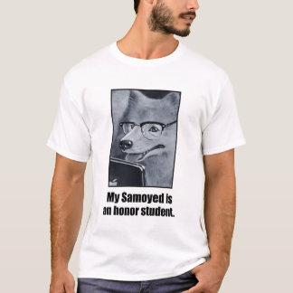 Das T-Stück der Samoyed-Hundeehrenstudenten-Männer T-Shirt