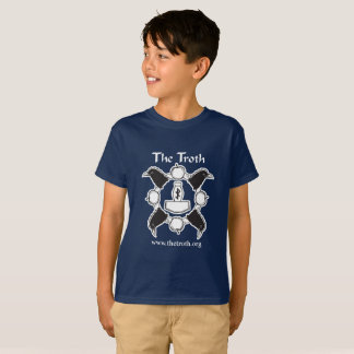 Das T-Stück des Jungen des Troth-B&W (dunkel) T-Shirt