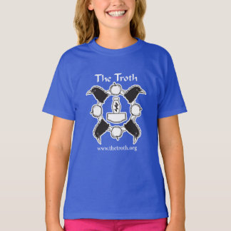 Das T-Stück des Mädchens des Troth-B&W (dunkel) T-Shirt