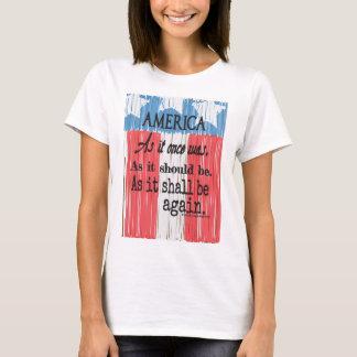 """Das T-Stück """"ein amerikanischer Toast-"""" der Frauen T-Shirt"""