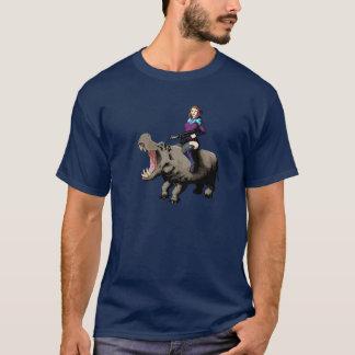 Das T-Stück GirlOnAHippo Männer T-Shirt