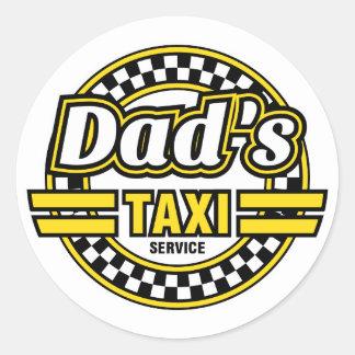 Das Taxi-Service des Vatis - lustige Aufkleber für