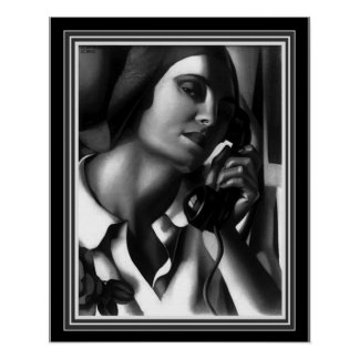 """Das Telefon-"" Kunst-Deko-Druck - Tamara de Poster"