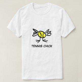 Das Tennis-Abnutzung der Tennis-Küken-Frauen T-Shirt