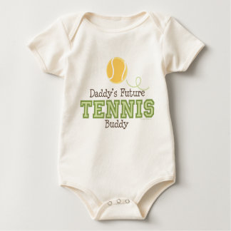 Das Tennis-Freund-Baby des Vatis zukünftiges Baby Strampler