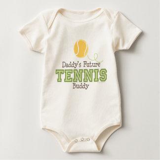 Das Tennis-Freund-Baby des Vatis zukünftiges Strampelanzug