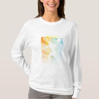 Das Tennis-T-Shirt der Frauen lange Hülse T-Shirt
