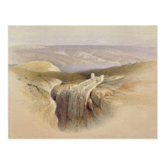 Das Tote Meer, das in Richtung Moabs, Volumen II Postkarte