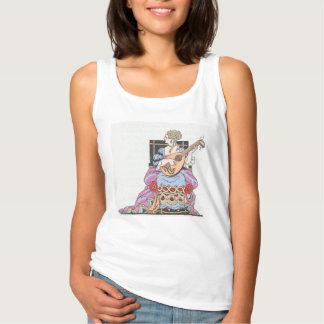 Das Trägershirt-Dame der grundlegenden Frauen mit Tank Top