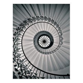 Das Tulpe-Treppenhaus, das Haus Greenwich der Postkarte