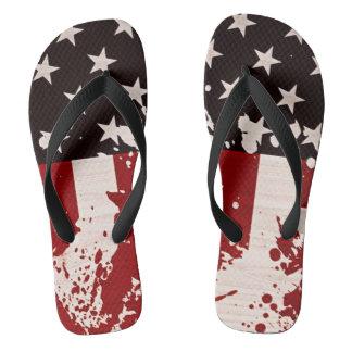 das Unisex USA-Flagge Flip Flops