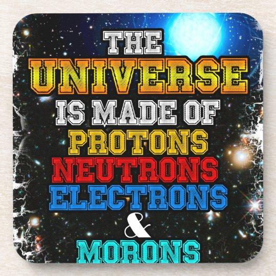 Das Universum wird von den Protonen, Neutronen Untersetzer