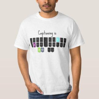 Das Untertiteln ist coole Steno Tastatur T-Shirt