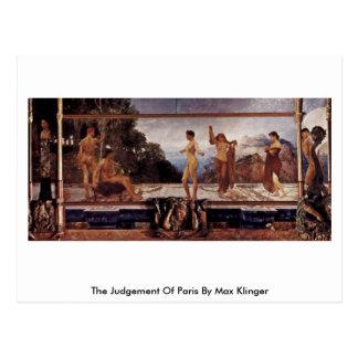 Das Urteil von Paris, Le By Max Klinger Postkarte