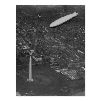 """Das US-Luftschiff """"USS Los Angeles"""" ZR3 vorbei Postkarte"""