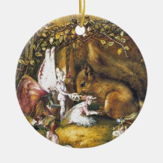 Das verletzte Eichhörnchen Keramik Ornament